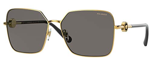 Versace Gafas de Sol ENAMEL MEDUSA VE 2227 Gold/Grey 59/15/140 mujer