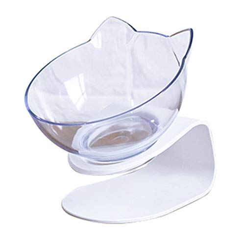 Syolee Cat Bowls 15° Tilted Platform Feeder Raised Feeding Bowl with Stand for Pet Food Water