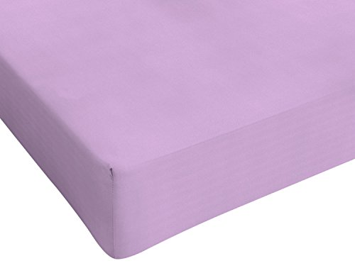 Italian Bed Linen Max Color Lenzuolo Sotto, 90 x 200 cm, Lilla