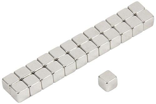 First4magnets F5CU-25 Dicker N42-Neodym-Magnet-1kg Anziehungskraft (2 St-Packung), 5 x 5 x 5mm thick, 25 Stück