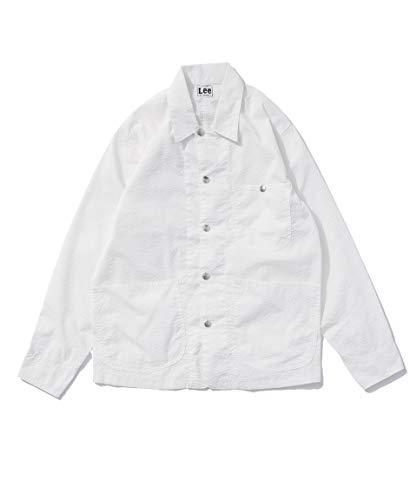 [ナノユニバース] Lee リー 別注 シアサッカー カバーオール ジャケット メンズ S ホワイト