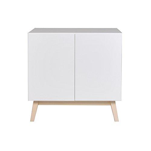 WEBER INDUSTRIES Home Bahut 2 Portes, Bois, Blanc, 80 x 40 x 79,5 cm