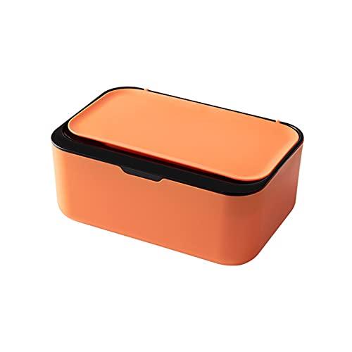 Caja de pañuelos de escritorio moderna a prueba de polvo fácil de usar toallitas húmedas dispensador titular para oficina en casa con diseño de sellado