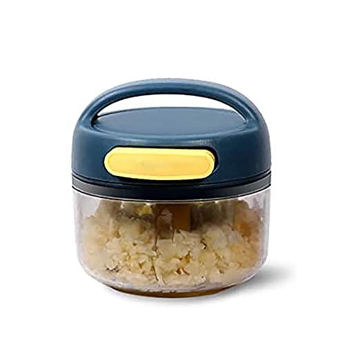 ADDG Procesador de Alimentos manuales, Choppers de ajo, Cortador de ajo, trituradora de ajo, para Verduras, Frutas, cebollas, nueces, ajo