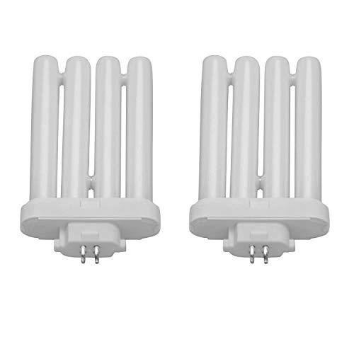 FML27/65K Quad Tube FML 27W 6500K Bulb T4 Plugin Light Bulb by Lumenivo - Sunlight Lamp Replacement Bulb - Daylight Color Temperature - GX10q-4 4 Pin Base - 10,000 Hours - 1330 Lumens - 2 Pack
