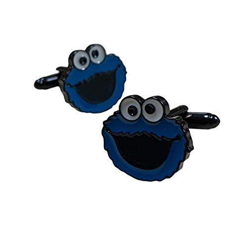 Gemelolandia | Gemelos de Camisa Monstruo Galletas Triki Head 20x20mm Gemelos Originales Para Camisas | Para Hombres y Niños | Regalos Para Bodas, Comuniones, Bautizos y Otros Eventos