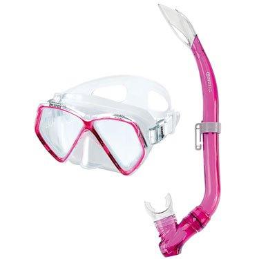 Mares Pirate - Juego gafas tubo snorkel rosa rosa