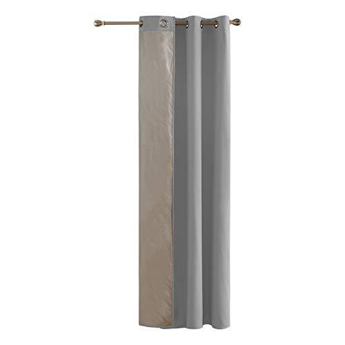 Deconovo Cortinas para Ventanas Aislantes Termicas con Forro Oxford 1 Panel 140 x 180 cm Gris Claro