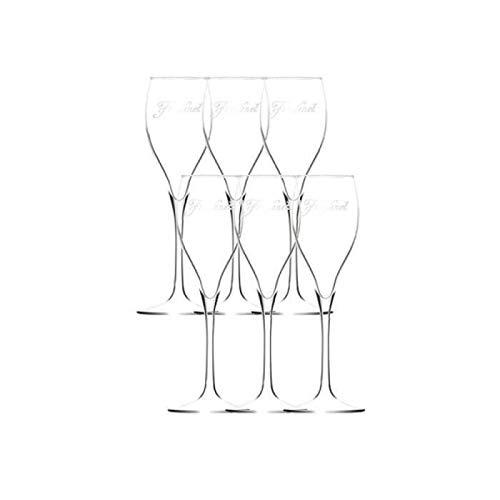 6 flûtes à champagne Vintage 13 cl - Verrerie de la Marne