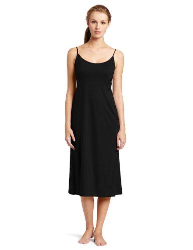 Natori Women's Shangri-La Solid Knit Gown, Black, Small