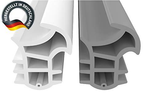 Stahlzargendichtung Grau 5m - gegen Zugluft Lärm & Staub spart Heizkosten Dichtung Dichtungshöhe 17mm Dichtungsbreite 14mm Falz Türdichtung (Grau 5m)