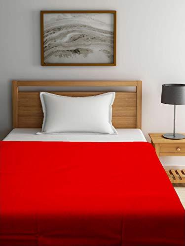 Raymond Home 375 GSM Orange Wool Single Blanket