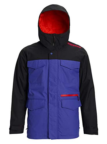 Burton Herren Covert Snowboard Jacke, Royal Blue/True Black, S