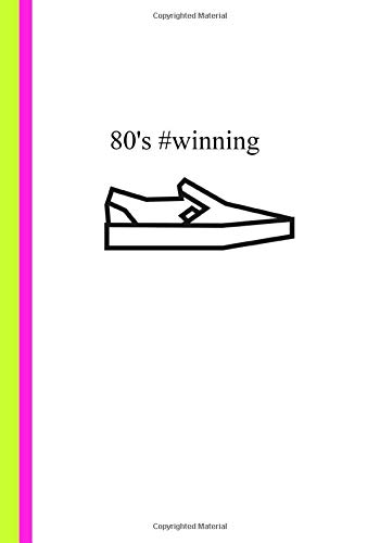 80's #winning: Slip-on Vans Journal Notebook (7' x 10') 120 Lined Pages