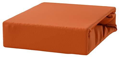 DRAP DRAP DE LIT feuille avec élastique 5 COULEURS TAILLES 23 JERSEY - 120x200 Rust Brown