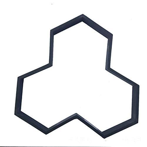Encofrado de Ladrillo de Pavimento de Hormigón Azulejo de piso DIY Molde de plástico Y Tipo Garden Pavimento Piedras Molde Cemento Concreto Piso Ladrillo Modelado ( Color : Black , Size : 35x35cm )