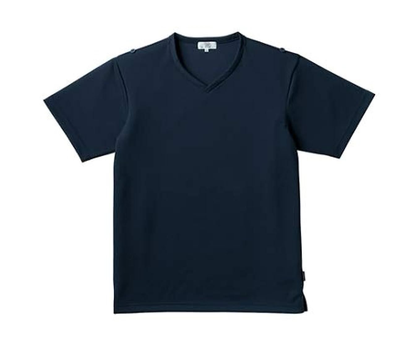 子羊分解するくるくるトンボ/KIRAKU 入浴介助用シャツ CR160 L ネイビー