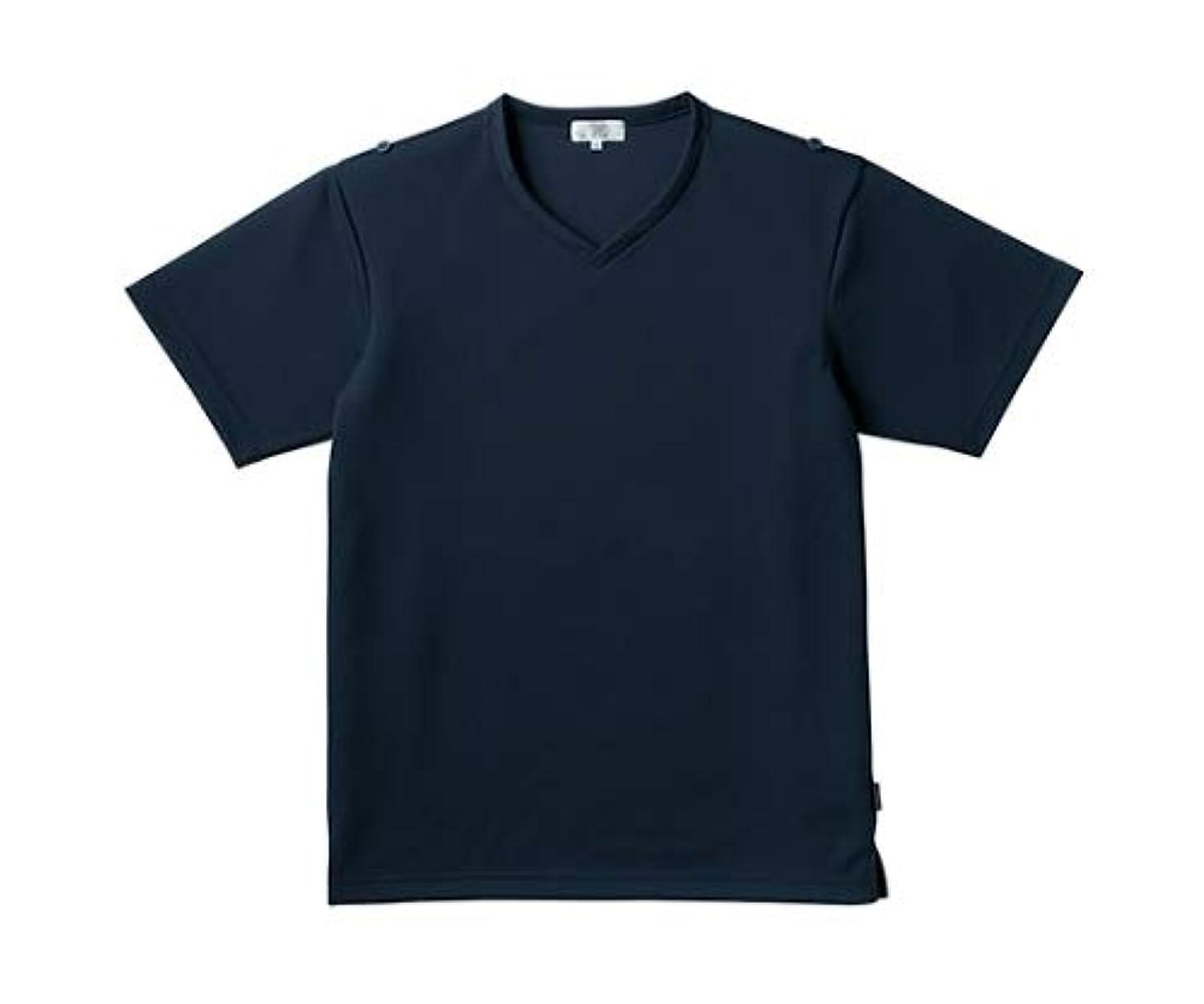 ピルアルカトラズ島七時半トンボ/KIRAKU 入浴介助用シャツ CR160 S ネイビー