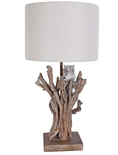 Tischlampe Baumzweig Leuchte Holz Optik Tischleuchte Alpenstil Nachttischlampe cw201 Palazzo Exklusiv