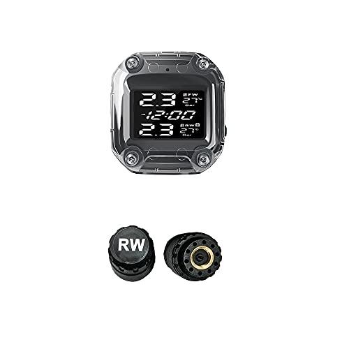 TANGIST Monitor de presión de neumáticos de la motocicleta Pantalla digital a prueba de agua Pantalla digital magnética CARGA RÁPIDA AUTOMÓVIL AUTOMÁTICO MOTO Moto Sensor de presión de neumáticos