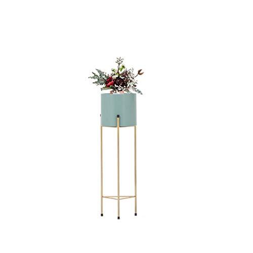 CXQ Moderne Simple Stand De Fleur En Fer Forgé Extérieur Intérieur Balcon Plateau De Fleurs Plateau De Fleurs Boutique Plante Multifonctionnelle Cadre Cadre Or Cadre Vert Fleur Stand (Size : M)
