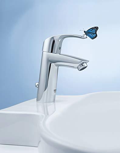 Grohe Eurosmart Waschtischarmatur, mit Zugstange, S-Size, Wasserhahn, Armatur, Waschtischarmatur, Waschbecken, Mischbatterie, Wasserkran (33265002) - 7