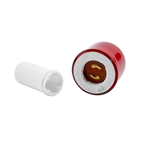 WEQQ LED Road Hazard Block Lampe blinkt Safty Verkehrskegel Topper Warnleuchte (rot)