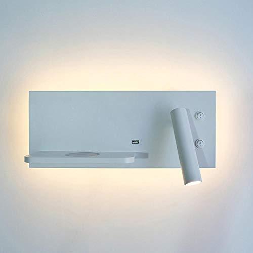 Slaapkamer-oplader, draadloos, plank, wandlampen, hoofdeinde, led, leeslamp, USB-verlichting, achtergrondverlichting