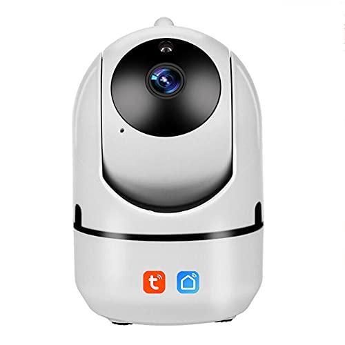 Tuya Smartlife App Cámara IP inalámbrica WiFi, HD 1080P Seguridad Mini CCTV interior para el hogar Monitor de bebé Trabaja con Alexa,Camera + 16g