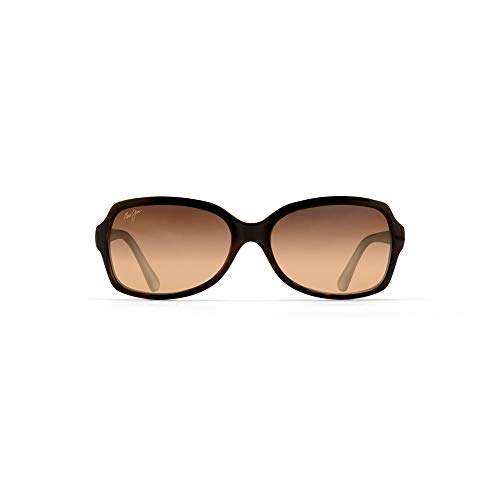 Maui Jim Women's Cloud Break w/ Patented PolarizedPlus2 Lenses Polarized Fashion Sunglasses, Tortoise/ Peacock Blue/Hcl Bronze Polarized, Medium
