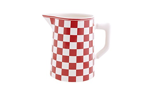 Depot d'argonne - Bricco, 1 litro, Motivo Damier, Colore Rosso