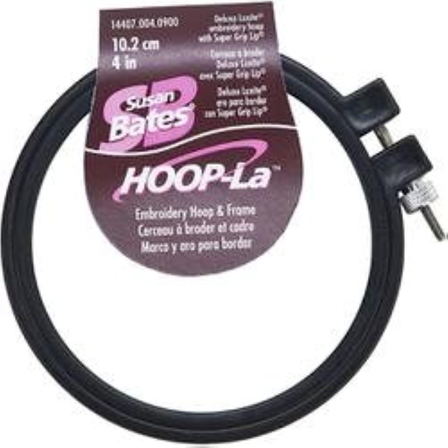 Bulk Buy: Susan Bates (3-Pack) Hoop La Plastic Embroidery Hoop Black Size 4in. 14407B-4