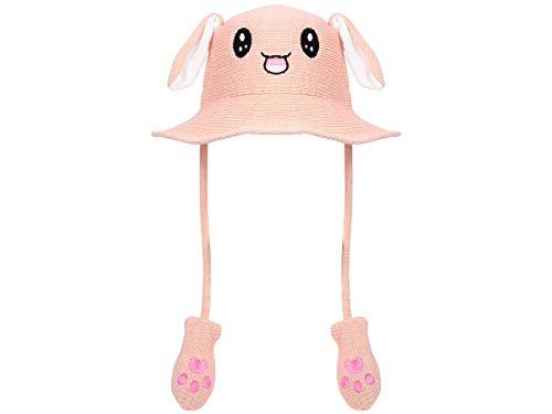 Sombrero con orejas movibles divertido sombrero de sol con orejas, para niños y adultos | verano | animal
