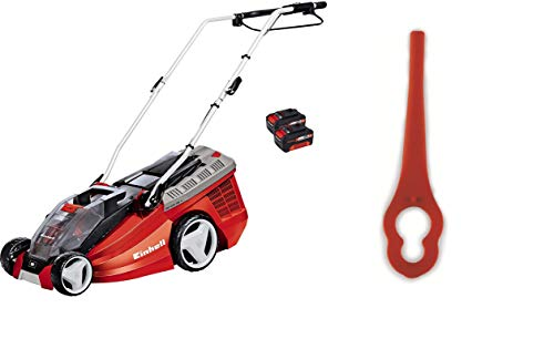 Einhell GE-CM 36 Li - Cortacésped inalámbrico Power X-Change + Cuchillas DE Recambio para GE-CT 18 Li, Rojo, 25 x 60 x 95