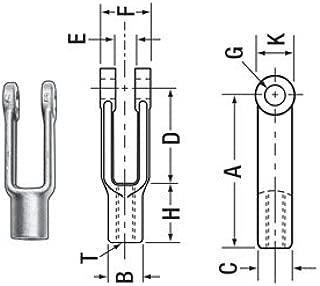 Chicago Hardware, 19905 6, Yoke End, Adjustable, Steel, 1/4-28