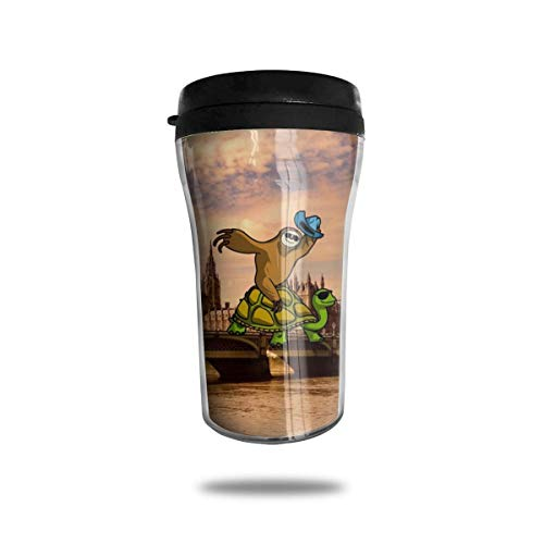 Taza de café de viaje con impresión 3D, taza de té aislada, taza de agua, taza de viaje para hombres, mujeres y niños, lugares de interés de la ciudad de Londres