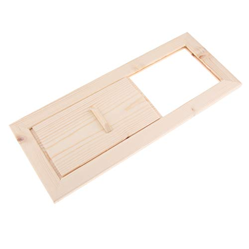 Hochwertig Lüftungsschieber Lüftungsklappe Saunabelüftung Entlüftungsblende für Haus und Sauna, aus Holz