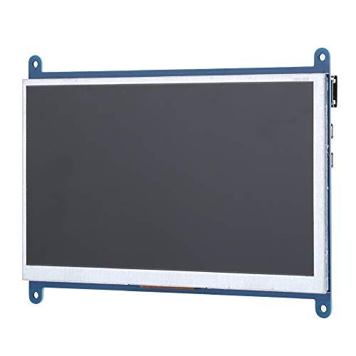 Pantalla de 7 Pulgadas para Raspberry Pi, Pantalla IPS178 ° HD, Fuente de alimentación USB con Interruptor de retroiluminación de 1024 x 600, Pantalla LCD de Monitor HDMI,etc.