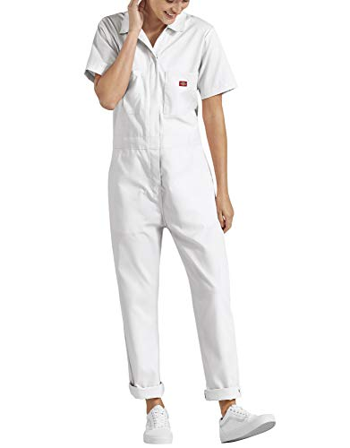 Dickies Women's Short Sleeve Flex Coverall, White, Large