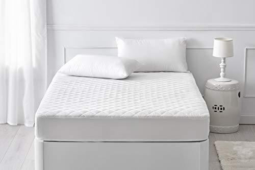 Pikolin Home - Protector de colchón acolchado con tratamiento dermoprotector Aloe Vera impermeable para colchones de hasta 32 cm de alto