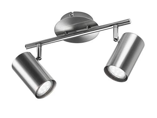 Moderner LED Wandstrahler / Deckenstrahler für Innen in Nickel matt - Spots flexibel dreh- und schwenkbar