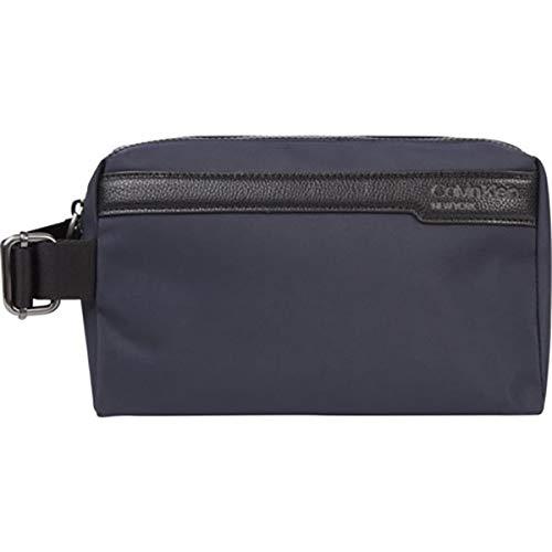 CALVIN KLEIN Men's WASHBAG Accessory-Travel Wallet, Blue, One Size