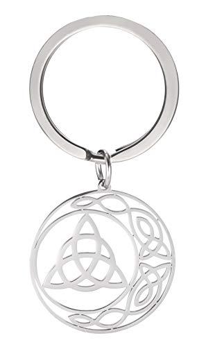 cooltime Schlüsselanhänger aus Edelstahl, irischer keltischer Knoten, Pentagramm, Glücksbringer, Schmuck für Frauen (keltischer Knoten)