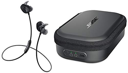 Bose SoundSport Wireless Headphones, Black + Charging Case