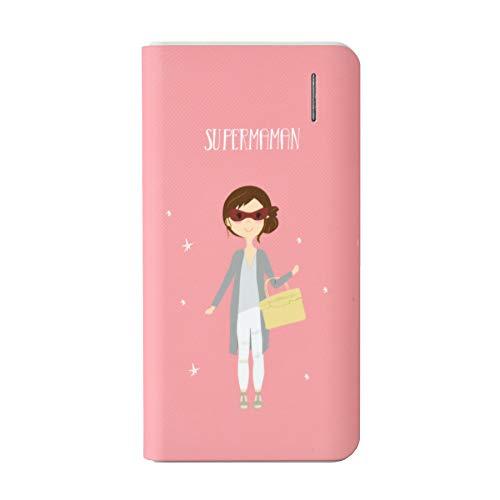 Susiko Batería Externa 4000 mAh - Diseño Super Mamá, Compacta y Conexión Micro USB