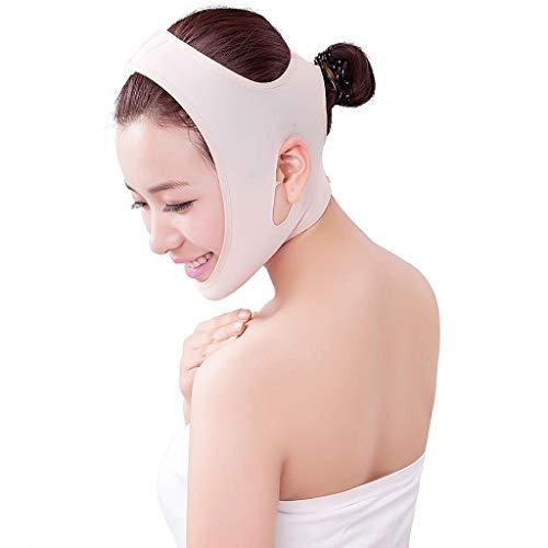 FCXBQ Minceur Cheek, Ligne V Face Ceinture Cheville Cheek Slim Lift Up Masque Anti-Rides Masque Anti-Stress Bande Sangle Ultra-Mince Respirant,Flesh,S