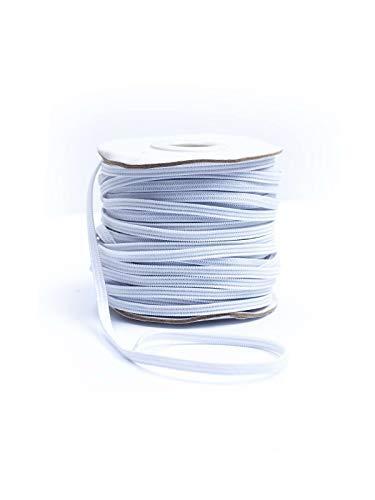 Gummiband flach 4mm weiß, 25m Rolle sofort lieferbar, in Deutschland hergestellt! selber nähen basteln DIY