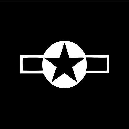 Zybnb 13,2 cm* 7,1 cm WW2 Vliegtuigen Star Vinyl Decals Auto Stickers Motorfiets Car-Styling Accessoires -3 STKS