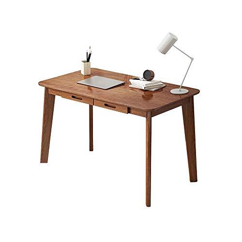 Table XIAOYAN Escritorio de Madera Maciza nórdica Escritorio de la computadora de Escritorio de Escritura Home Student Desk cajón de Almacenamiento - 2 Colores, 3 tamaños