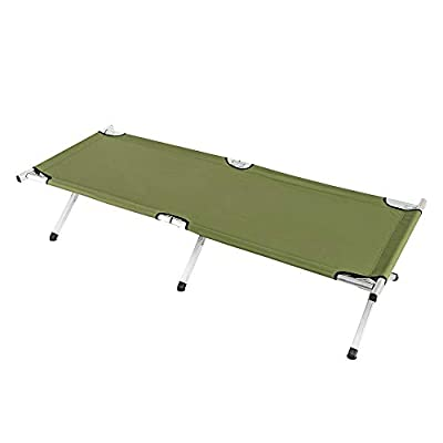 EBLSE Folding Camping Sleeping Cot, Portable Traveling Camping Bed, Military Cot Canvas Tent, Outdoor Indoor Office Hospital Patio Furniture Bed with Carrying Bag